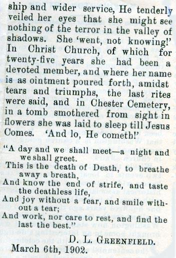 Newsclipping of obituary of Josephine Hubbard continued