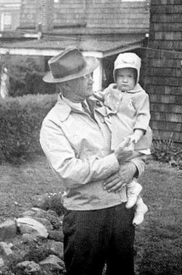 Picture of Sandra Lee Willis, age 22 months, with granddaddy L. Roy Willis, Sr. Easton, Maryland May 1943