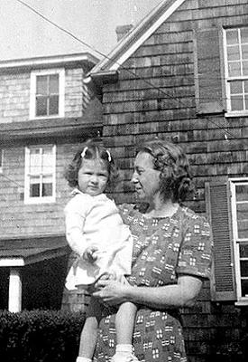 Picture of Sandra Lee Willis, age 22 months, with grandmother Hilda G. Willis Easton, Maryland May 1943