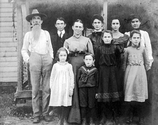 Picture of James Spry Willis and family