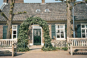 Close up picture of a 1773 house on the town square in  Lottum, Limburg, Netherlands