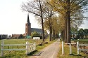 Picture of the entrance Avenue to the Castle De Borggraaf in Lottum, Limburg, Netherlands
