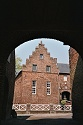Picture of the Castle De Borggraaf as seen through the entry, Lottum, Limburg, Netherlands