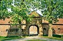 Picture of the entrance to Castle De Borggraaf in Lottum, Limburg, Netherlands