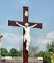 Close up of the Cross in Lottum, Limburg, Netherlands