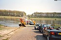 Picture of the ferry as it arrives in Lottum, Limburg, Netherlands
