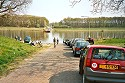 Picture of the ferry across the Maas on the far side, Lottum, Limburg, Netherlands