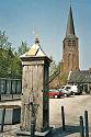 Picture of renovated water pump in the town square of Lottum, Limburg, Netherlands
